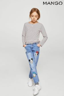 Mango Kids Mickey™ Badge Jean