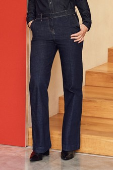 Tailored Wide Leg Jeans