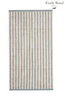 Emily Bond Stripe Grey Towels