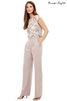 Phase Eight Praline/Cream Cortine Jumpsuit