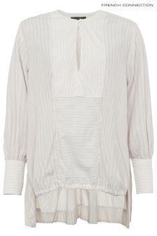 French Connection Nude Malolo Stripe Long Sleeve Shirt
