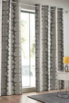 Pebble Print Eyelet Curtains