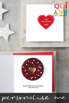 Personalised Valentines Card and Chocolate By Quirky Gift Library