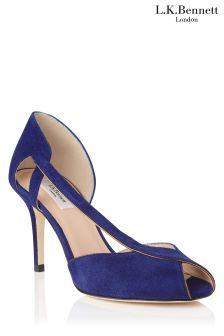 L.K.Bennett Liya Blue Suede Sandal