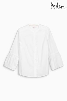 Boden White Bell Sleeve Shirt