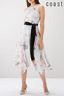 Coast Multi Vinca Print Soft Dress