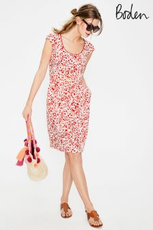 Boden Red Margot Jersey Dress