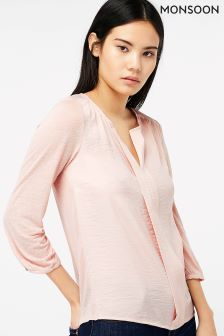 Monsoon Pink Wendy Woven Top