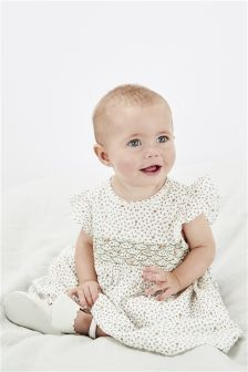 Ditsy Smocked Dress (0mths-2yrs)