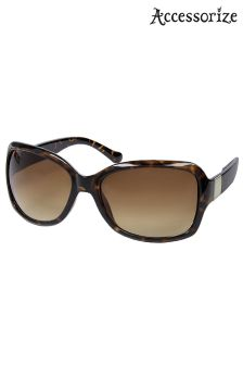 Accessorize Animal Sammy Metal Tag Wrap Sunglasses