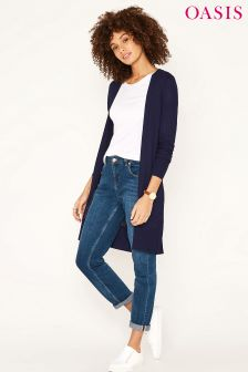 Oasis Navy Edge To Edge Cardi