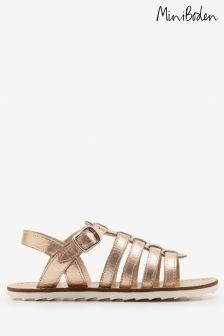 Boden Metallic Leather Gladiator Sandal