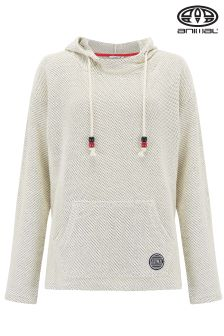 Animal Ralis Reload Too Coconut Cream Woven Overhead Hoody