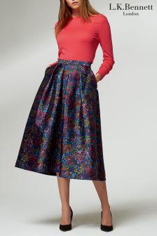 L.K.Bennett Blue Aurora Skirt