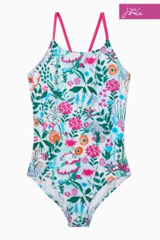 Joules Green Floral Beach One Piece Swimsuit