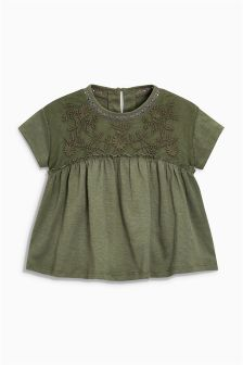 Chest Embroidered Blouse (3mths-6yrs)