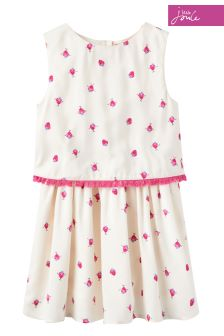 Joules Cream Imogen Spot Dress