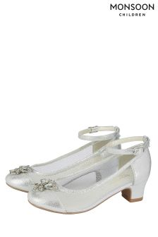 Monsoon Silver Fairytale Butterfly Cha Cha Cha Shoe