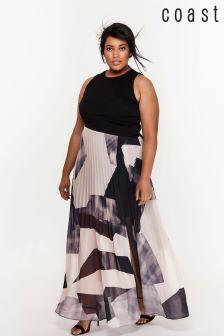 Coast Curve Black Aria Geo Print Maxi Dress