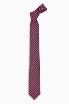Gingham Pattern Tie