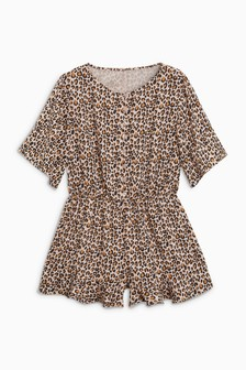 Print Button Playsuit (3-16yrs)
