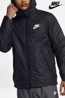 Nike Sportswear Black Fleece Lined Jacket
