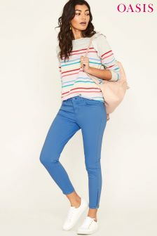 Oasis Blue Coloured Isabella Skinny Jean