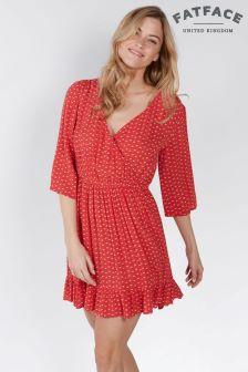 FatFace Tomato Abigail Fleur Geo Wrap Dress