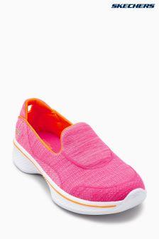 Skechers® Pink Go Walk 4 Speedy Sports Super Sock Slip On
