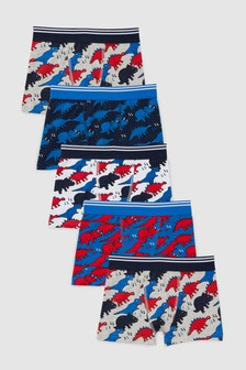 Dinosaur Trunks Five Pack (2-12yrs)