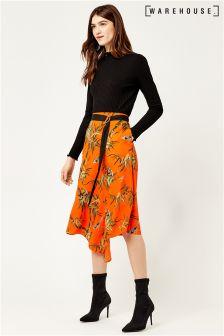 Warehouse Songbird Wrap Skirt