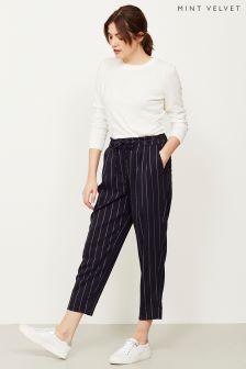 Mint Velvet Blue Paperbag Stripe Trouser