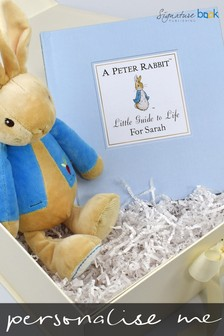Personalised Peter Rabbit Little Guide To Life Book And Plush Toy Gift Set By Signature Book Publishing