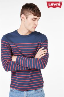 Levi's® Navy/Red Stripe Long Sleeve T-Shirt