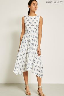 Mint Velvet Carla Print Hanky Hem Dress