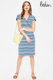 Boden Blue Casual Jersey Dress