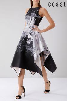 Coast Black Mahonia Jacquard Midi Dress