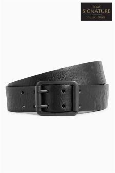 Signature Italian Leather Two Prong Belt