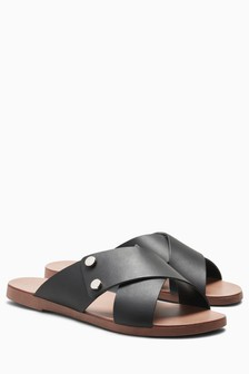 Crossover Mule Sandals