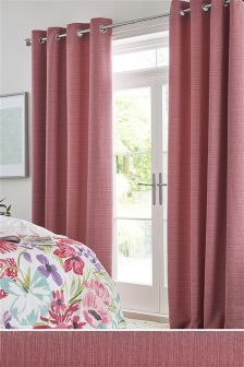Textured Slub Studio* Eyelet Blackout/Thermal Curtains