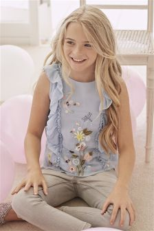 Ruffle Embellished Blouse (3-16yrs)