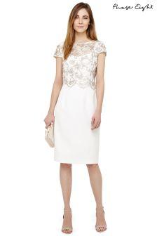 Phase Eight Praline/Cream Juno Dress