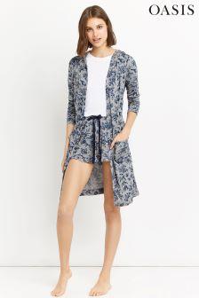 Oasis Grey Print Robe
