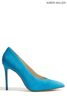 Karen Millen Blue High Vamp Court Shoe
