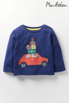 Boden Blue Festive T-Shirt
