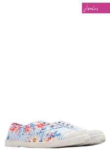 Joules Floral Stripe Sunley Trainer