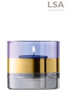 LSA International Blue Bangle Tealight Holder