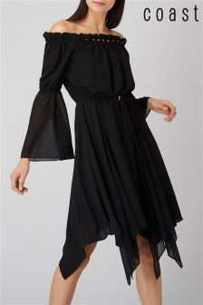 Coast Black Dante Beaded Dress