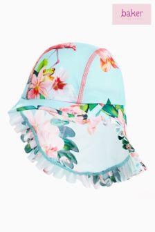 baker by Ted Baker Toddler Mint Floral Keppi Hat