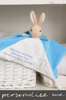 Personalised Peter Rabbit Comfort Blanket  By Signature PG